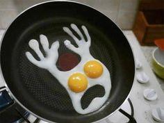 ghost eggs! love it!