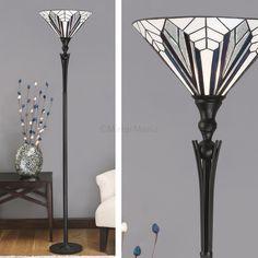 Astoria Range Art Deco Tiffany Uplighter - Floor Lamps - Lighting - Home Decor