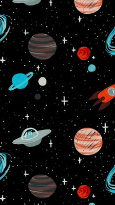 Shared by sнσσđч ★. Find images and videos about black, art and inspiration on We Heart It - the app to get lost in what you love. Cartoon Wallpaper, Space Phone Wallpaper, Night Sky Wallpaper, Planets Wallpaper, Homescreen Wallpaper, Iphone Background Wallpaper, Dark Wallpaper, Galaxy Wallpaper, Cute Patterns Wallpaper