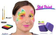 Face Painting Demo - Splash Sponge Pointed Petal
