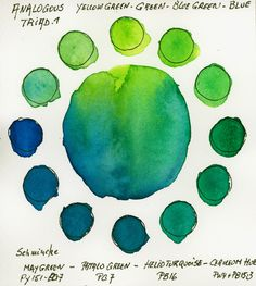 Analogous Tetrad with Schmincke Horadam Watercolors