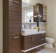 By installing a corner bathroom sink cabinet design, a stylish interior element appears. Bathroom Cabinets Over Toilet, White Bathroom Shelves, Corner Sink Bathroom, Bathroom Shelf Decor, Bathroom Toilets, Modern Bathroom, Small Bathroom, Master Bathroom, Bad Inspiration