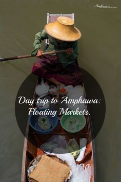 Take a day trip to Amphawa from Bangkok and enjoy the floating markets of Thailand . 2 possible markets, old fashion and modern.  Get a taste of the famous floating markets without the tourist crowds!