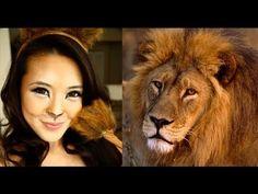 Lion Halloween Makeup Tutorial - YouTube