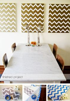 Do It Yourself Chevron Paintings