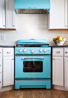 """30"""" Retro Stove with 200 Custom Color Options. How are you digging the beach blue?"""