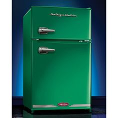 Nostalgia Limited Edition 2-Door Emerald Green Retro Fridge