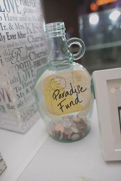 Paradise Falls Honeymoon Fund Jar in lieu of Money Dance  // Disney Up Inspired Wedding // Pandora On Green Wedding in Pasadena