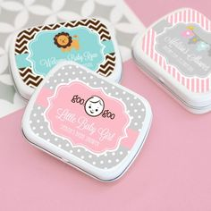 Personalized Baby Shower Mint Tins