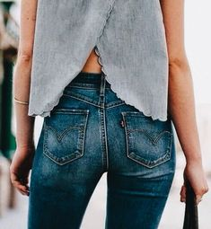 Spring Denim - What To Wear For Every Occasion Street Style Outfits, Looks Street Style, Looks Style, Style Me, Girl Style, Diy Kleidung, Look Fashion, Womens Fashion, Fashion Blogs