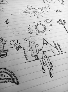 Simple doodles for bujo. simple doodles for bujo cool drawings, simple pe. Doodle Drawings, Easy Drawings, Drawing Sketches, Drawing Art, Drawing Ideas, Simple Doodles Drawings, Simple Cute Drawings, Simple Pencil Drawings, Random Doodles