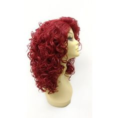 13 Inch Lace Front Bright Wine Red Curly Combo Part Heat Resistant... (€52) ❤ liked on Polyvore featuring accessories, hair accessories, red hair accessories, hair comb accessories, hair combs and lace hair accessories