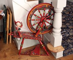 painted spinning wheel
