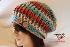 Ravelry: Sunset Ridge Slouch Crochet Pattern pattern by April Bennett with Cuddle Me Beanies