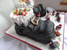 Penguin Party at Santa's! - Cake by Fifi's Cakes