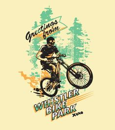 Budi Satria Kwan - a vintage post card inspired design for Whistler Bike Park