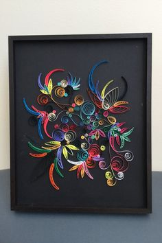 QUILLING PAPER ART: Brasil- quilling-handmade wall art-color decor-paper picture
