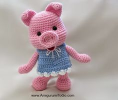 Free Pattern and this little piggy cried WEE WEE WEE, until you give he… Make me! Free Pattern and this little piggy cried WEE WEE WEE, until you give her a cuddle Easy Crochet Baby Hat, Crochet Pig, Crochet Amigurumi Free Patterns, Diy Crochet Animals, Diy Christmas Decorations Easy, This Little Piggy, How To Start Knitting, Animal Crafts, Blog