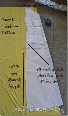 DIY Maxi Dress (original link) with or without ruching. This blog has TONS of cute ideas
