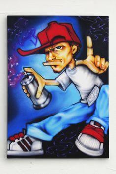 Scotty76 Charicture Graf Writer Leinwand Canvas