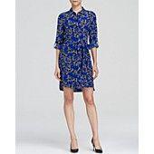 DIANE von FURSTENBERG Shirt Dress - Prita Button Down Silk