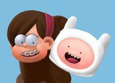 """Confira meu projeto do @Behance: """"Mabel - Gravity Falls & Finn - Adventure Time"""" https://www.behance.net/gallery/39666721/Mabel-Gravity-Falls-Finn-Adventure-Time"""