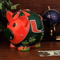 Miami Hurricanes Large Resin Thematic Piggy Bank