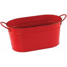 5.59Nantucket Seafood Red Metal Seafood Tub