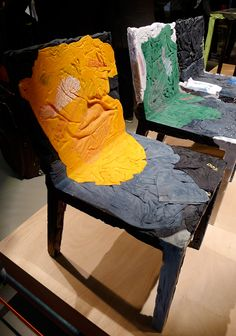Milano Salone del Mobile 2012: Rememberme chair made of recycled clothes by Tobias Juretzek for Casamania