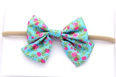 little pop pop bow headband Baby Bows, Baby Headbands, Pop Pop, Hair Clips, Flowers, Accessories, Fashion, Tejido, Girls