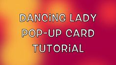 Join me while I create a beautiful pop up card featuring the dancing lady from Stampin' Up's Beautiful You stamp set. Card Templates, Pop Up, Stampin Up, Dancing, The Creator, Lady, Youtube, Beautiful, Card Patterns