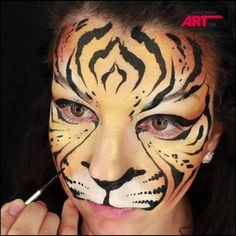 "1,065 Likes, 22 Comments - Olga Murasev (@olgamurasev) on Instagram: ""Learn how to face paint this amazing and fancy Tiger design, that both boys and girls will love! …"""