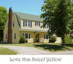 Yellow houses make me happy.