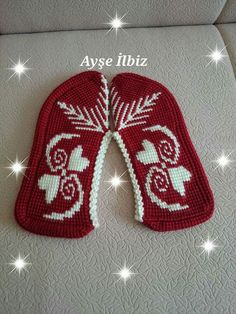 This Pin was discovered by Нат Tunisian Crochet, Crochet Shawl, Knit Crochet, Knitting Patterns Free, Hand Knitting, Crochet Patterns, Crochet Slipper Pattern, Crochet Boots, Knitted Slippers