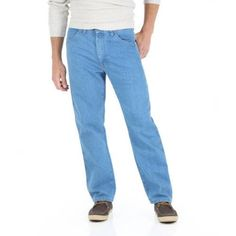 Wrangler - Men's Stretch Jeans, Size: 34 x 29, Blue