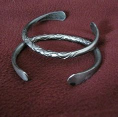 Pair of Iron Bracelets Viking Celtic blacksmith Mens Jewelry. $70.00, via Etsy.