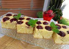 Ricottás-meggyes süti | Tóth Angéla receptje - Cookpad receptek Ricotta, Cheesecake, Desserts, Cooking Recipes, Food, Yogurt, Tailgate Desserts, Deserts, Cheesecakes