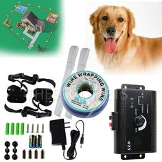 In-Ground Electric Dog Pet Fence Containment System Shock Collars for 1 2 3 Dogs #scoutlet