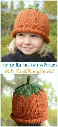 24bc7fc38c8 Pumpkin Hat Free Knitting Patterns  Baby To Adults