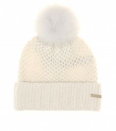 #BurberryBrit Fox fur-trimmed wool and cashmere-blend hat