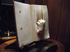 Life Emerges Inside Elaborately Carved Wooden Books - My Modern Met