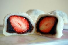 Happy Girlʻs Day! March 3rd. How to Make Strawberry Mochi (Daifuku) in 8 Steps. You can even dip strawberries in chocolate instead of azuki bean. Ono Loa!