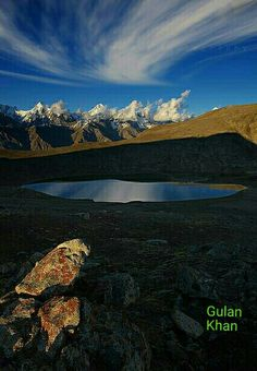 Awesome view of the Rush Lake, Hunza valley Gilgit Baltistan Pakistan