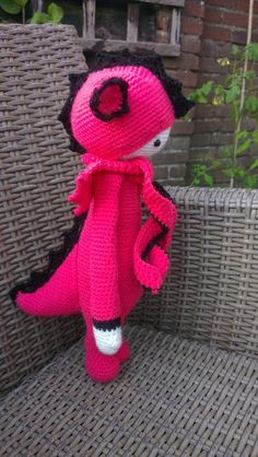 DIRK the dragon made by Gabie W. / crochet pattern by lalylala