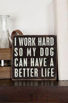 Dog Better Life 4x4 Plaque