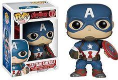 Funko POP Marvel Avengers 2: Captain America: Funko Pop! Marvel:: Amazon.co.uk: Toys & Games