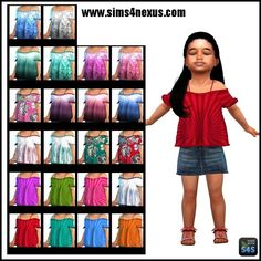 Lana CC Finds - Dreaming of July -A Top for Toddler Girls-