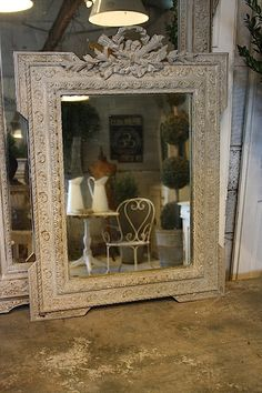 I have this exact mirror I bought at a flea market in Paris! Ooh, la-la!!! I actually think this is a photo of it taken by someone else and posted as it looked just like this when I found it, how amazing is that?!!!