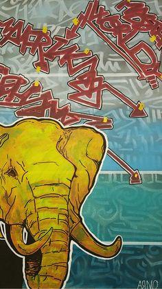 """elephant"" 66x51 acrylic Arno, Elephant, Comic Books, Comics, Cover, Elephants, Cartoons, Cartoons, Comic"