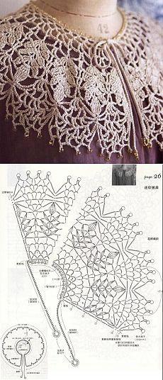 Captivating Crochet a Bodycon Dress Top Ideas. Dazzling Crochet a Bodycon Dress Top Ideas. Col Crochet, Crochet Cape, Crochet Lace Edging, Crochet Leaves, Crochet Collar, Crochet Blouse, Thread Crochet, Irish Crochet, Crochet Shawl